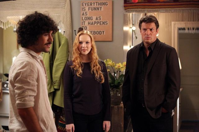 Photo Molly C. Quinn, Myko Olivier, Nathan Fillion