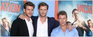Vive les Vacances : peu de repos pour les frères Hemsworth sur le tapis rouge...