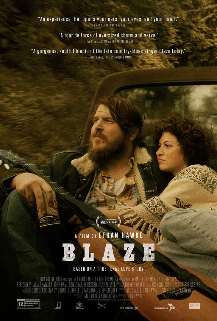 Poster for Ethan Hawke's Blaze movie