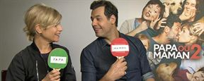 """Interview quiz : Marina Foïs et Laurent Lafitte jouent à """"Papa ou Maman ?"""""""