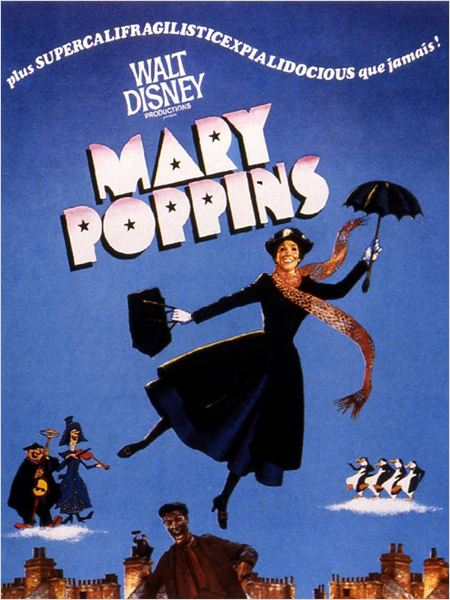 Mary Poppins : affiche Julie Andrews, Robert Stevenson