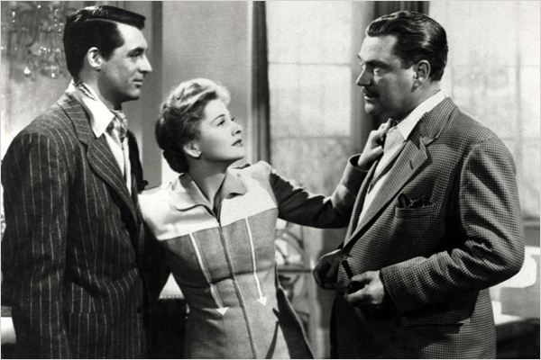 Soupçons : photo Alfred Hitchcock, Cary Grant, Joan Fontaine, Nigel Bruce