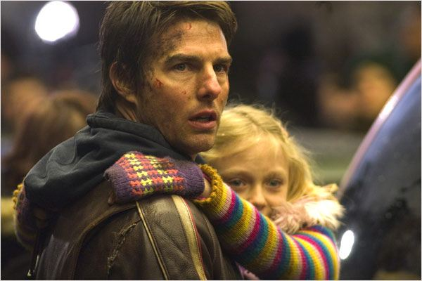 La Guerre des Mondes : Photo Dakota Fanning, Steven Spielberg, Tom Cruise