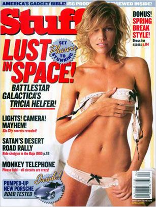 Battlestar Galactica : Couverture magazine Tricia Helfer