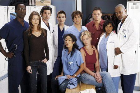 Grey's Anatomy : Photo Chandra Wilson, Ellen Pompeo, Isaiah Washington, James Pickens Jr., Justin Chambers
