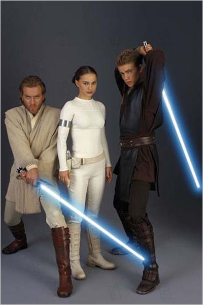Star Wars : Episode II - L'Attaque des clones : Photo Ewan McGregor, George Lucas, Hayden Christensen, Natalie Portman