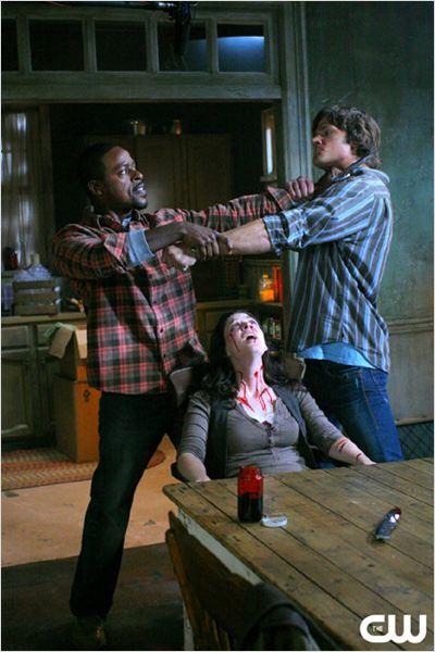 Supernatural : Photo Amber Benson, Jared Padalecki, Sterling K. Brown