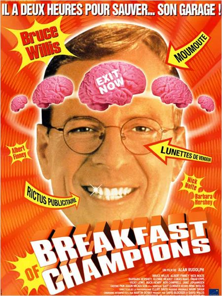 Breakfast of Champions : affiche Alan Rudolph, Bruce Willis