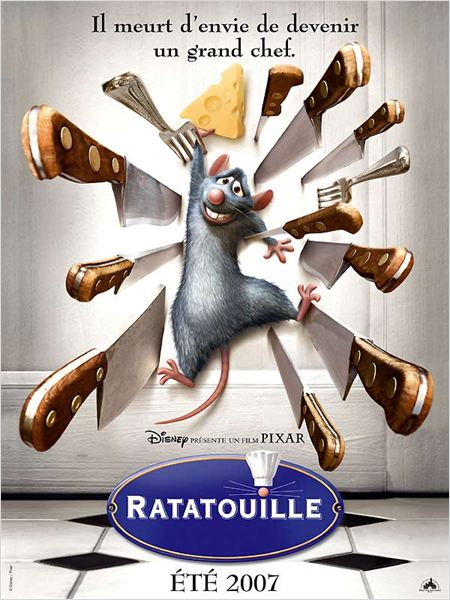 Ratatouille : affiche Brad Bird, Jan Pinkava