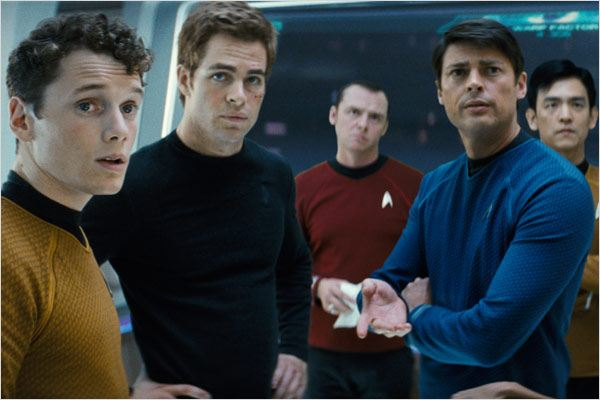 Star Trek : Photo Anton Yelchin, Chris Pine, J.J. Abrams, John Cho, Karl Urban