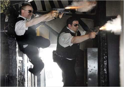 Hot Fuzz : Photo Edgar Wright, Nick Frost, Simon Pegg