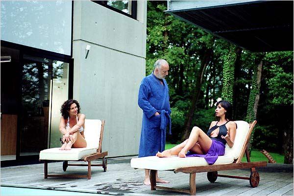 La fille coupée en deux : Photo Claude Chabrol, François Berléand, Mathilda May, Valeria Cavalli