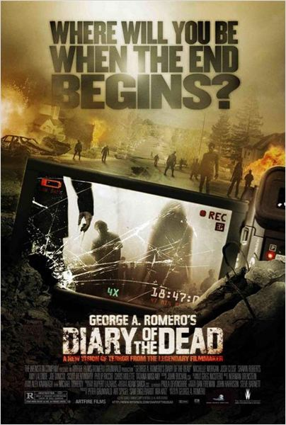 Diary of the Dead - Chronique des morts vivants : affiche George A. Romero