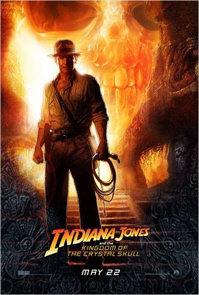 Indiana Jones et le Royaume du Crâne de Cristal : affiche Harrison Ford, Steven Spielberg