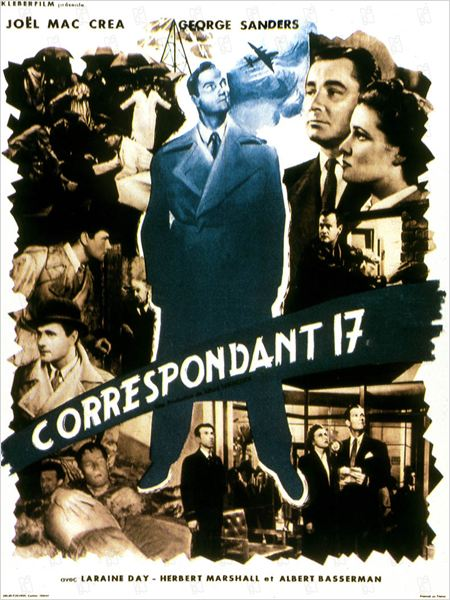 Correspondant 17 : photo Alfred Hitchcock, George Sanders, Herbert Marshall, Joel McCrea, Laraine Day