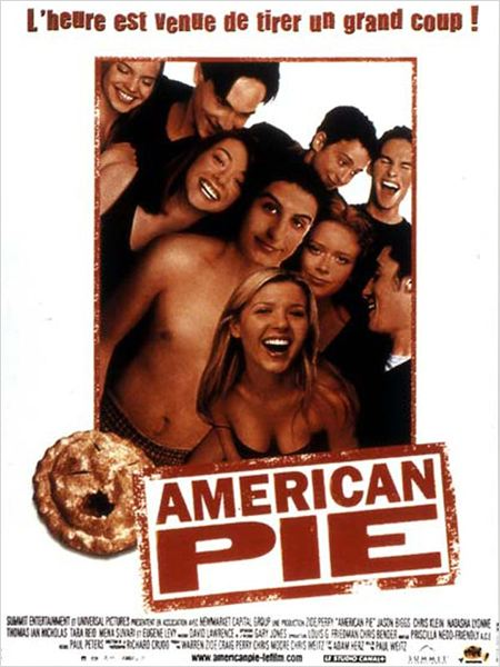 American Pie : Affiche Chris Klein, Chris Weitz, Jason Biggs, Paul Weitz, Seann William Scott