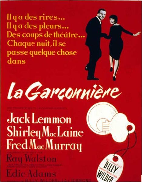 La Garçonnière : affiche Billy Wilder, Fred MacMurray, Jack Lemmon, Shirley MacLaine