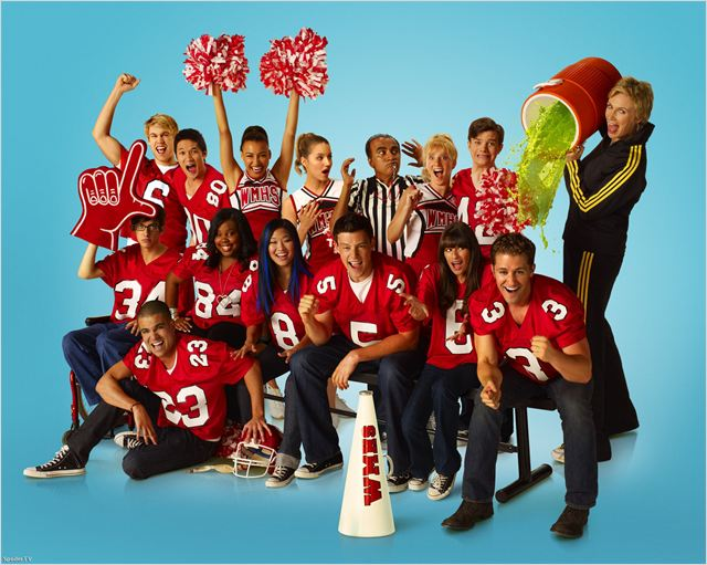 Glee : Photo Amber Riley, Chris Colfer, Cory Monteith, Dianna Agron, Harry Shum Jr.