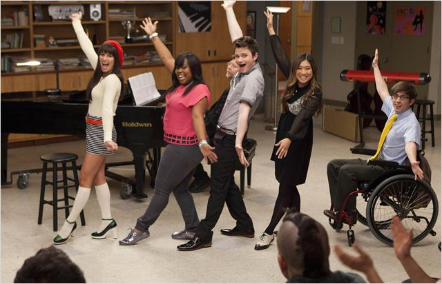 Photo Amber Riley, Chris Colfer, Jenna Ushkowitz, Kevin McHale, Lea Michele