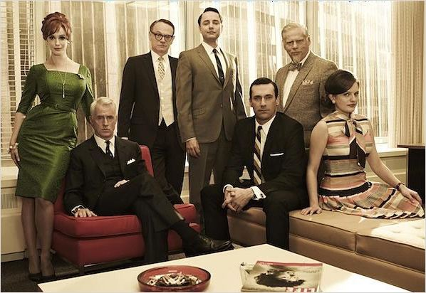Mad Men : Photo Christina Hendricks, Elisabeth Moss, Jared Harris, John Slattery, Jon Hamm