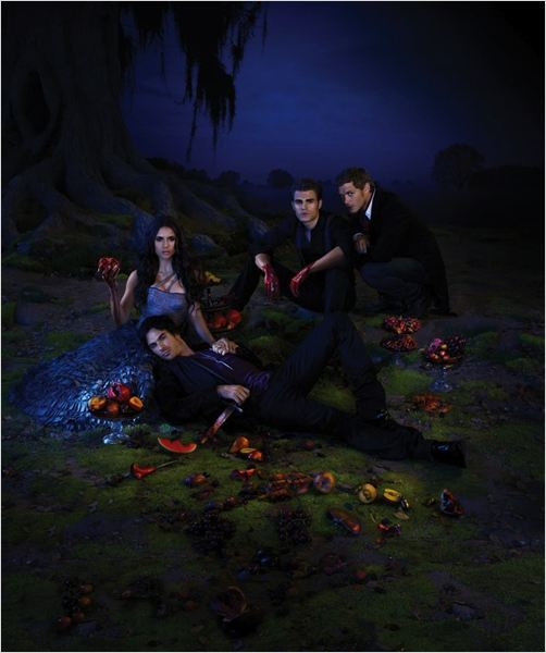 Photo Ian Somerhalder, Joseph Morgan, Nina Dobrev, Paul Wesley