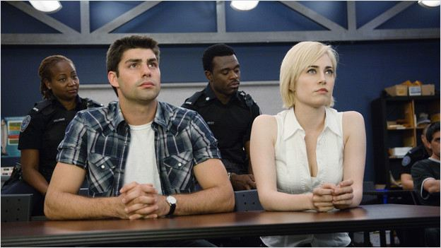 Rookie Blue : Photo Charlotte Sullivan, Lyriq Bent, Melanie Nicholls-King, Travis Milne