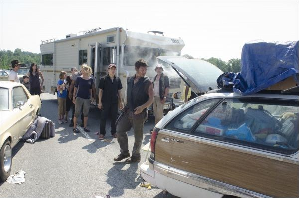 Photo Jeffrey DeMunn, Laurie Holden, Norman Reedus, Steven Yeun