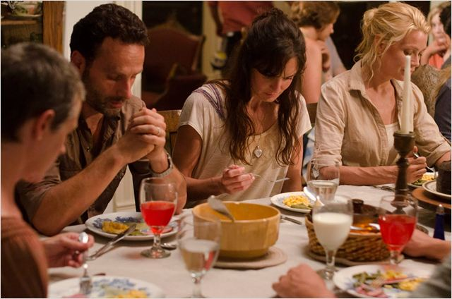 Photo Andrew Lincoln, Laurie Holden, Sarah Wayne Callies