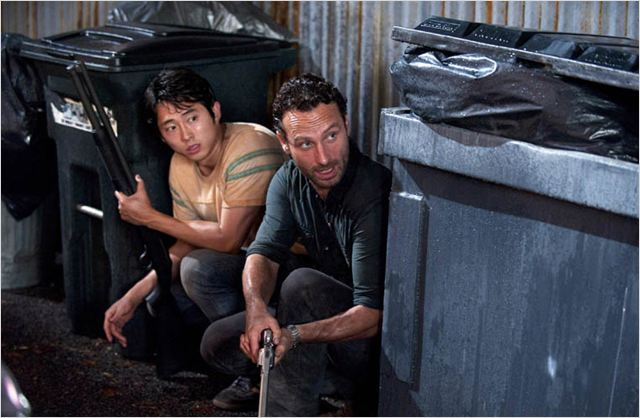 Photo Andrew Lincoln, Steven Yeun