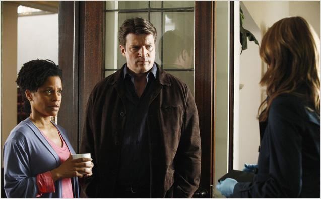 Castle : photo Judith Scott, Nathan Fillion, Stana Katic