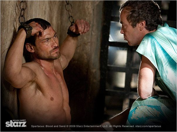 Spartacus : Le sang des gladiateurs : photo Andy Whitfield, John Hannah