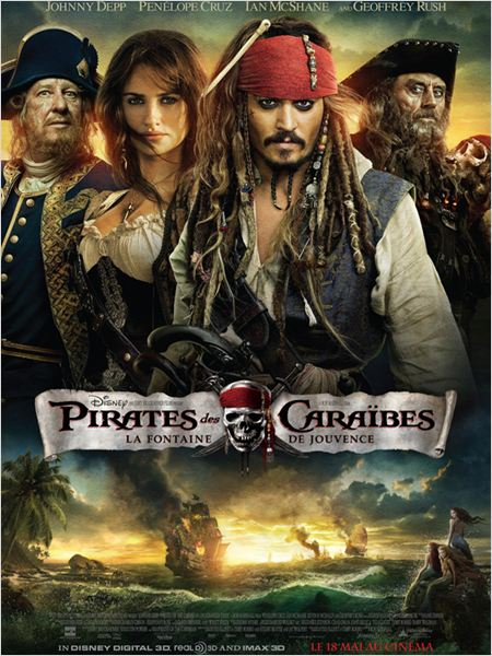 Pirates des Cara&#239;bes : la Fontaine de Jouvence : affiche