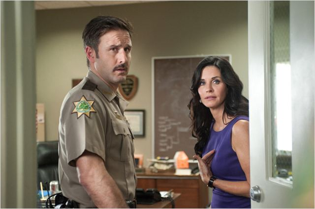 Scream 4 : photo Courteney Cox, David Arquette, Wes Craven