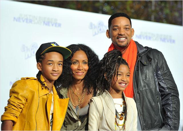 Justin Bieber: Never Say Never : Photo Jada Pinkett Smith, Jaden Smith, Jon M. Chu, Will Smith, Willow Smith