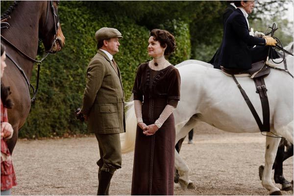 Downton Abbey : photo Elizabeth McGovern, Hugh Bonneville