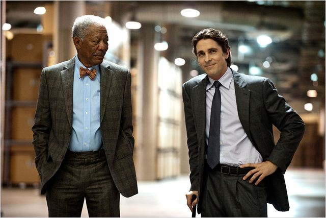The Dark Knight Rises : Photo Christian Bale, Christopher Nolan, Morgan Freeman