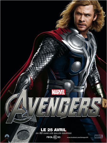 Avengers : affiche Chris Hemsworth