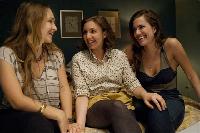 Girls : photo Allison Williams, Jemima Kirke, Lena Dunham