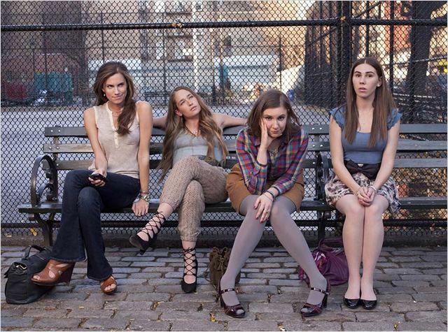 Girls : photo Allison Williams, Jemima Kirke, Lena Dunham, Zosia Mamet