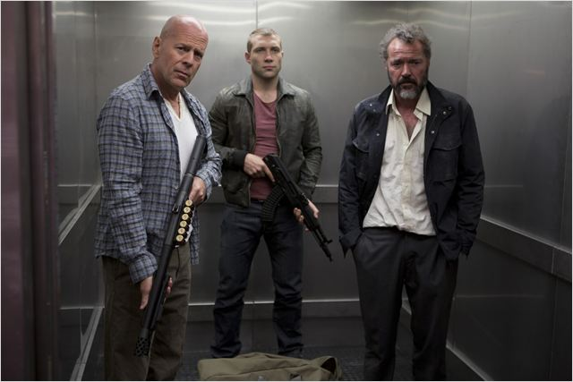 Die Hard : belle journ&#233;e pour mourir : Photo Bruce Willis, Jai Courtney, Sebastian Koch