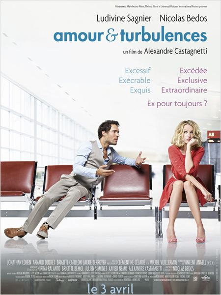 Amour &amp; Turbulences : affiche Ludivine Sagnier, Nicolas Bedos