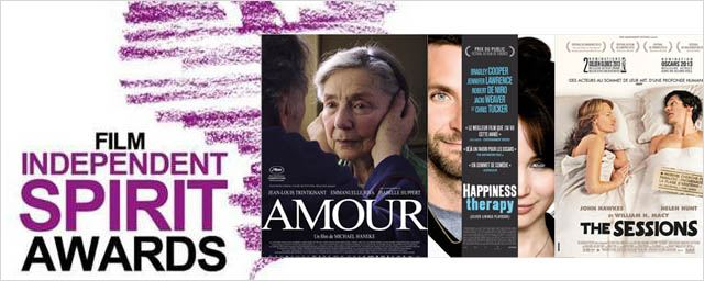 "Independent Spirit Awards 2013 : ""Amour"" et ""Happiness Therapy"" dominent !"