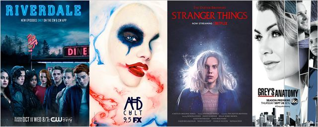American Horror Story, Stranger Things, Grey's Anatomy... Les séries font le plein d'affiches