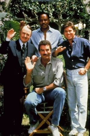Magnum : Photo John Hillerman, Larry Manetti, Roger E. Mosley, Tom Selleck