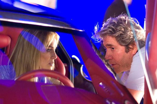 Sharon Stone et Mario Kassar (producteur) sur le tournage