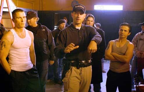Christian Bale, David Ayer (réalisateur) et Freddy Rodriguez