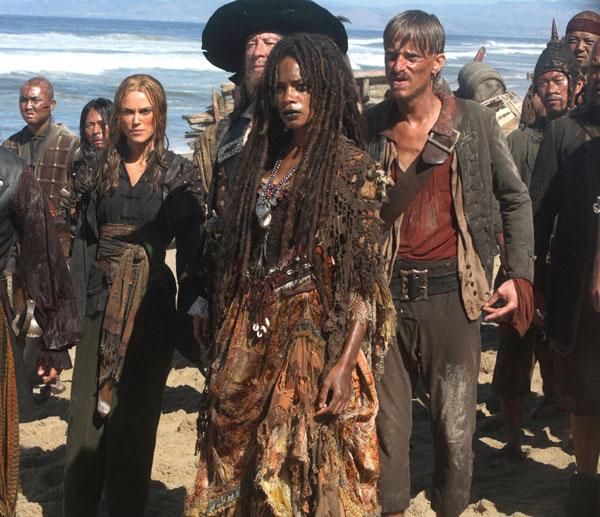Pirates des Caraïbes : Jusqu'au Bout du Monde : Photo Geoffrey Rush, Keira Knightley, Mackenzie Crook, Naomie Harris