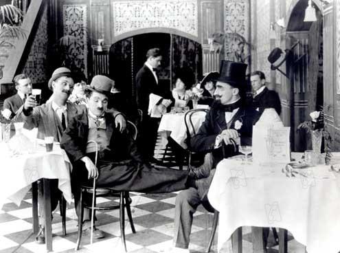 Charlot fait la noce : Photo Ben Turpin, Charles Chaplin, Leo White