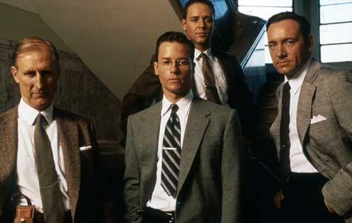 Kevin Spacey, Russell Crowe, Guy Pearce et James Cromwell