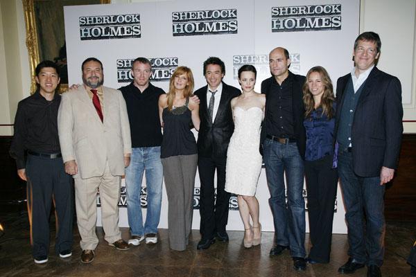 Sherlock Holmes : Photo promotionnelle Dan Lin, Guy Ritchie, Joel Silver, Kelly Reilly, Lionel Wigram